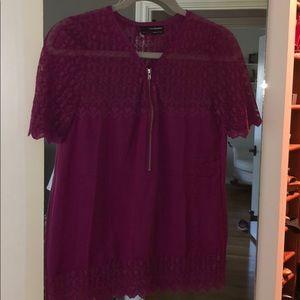 Cute dark purple/wine colored blouse